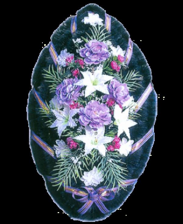 Венок из искусственных цветов Стандарт 110-2