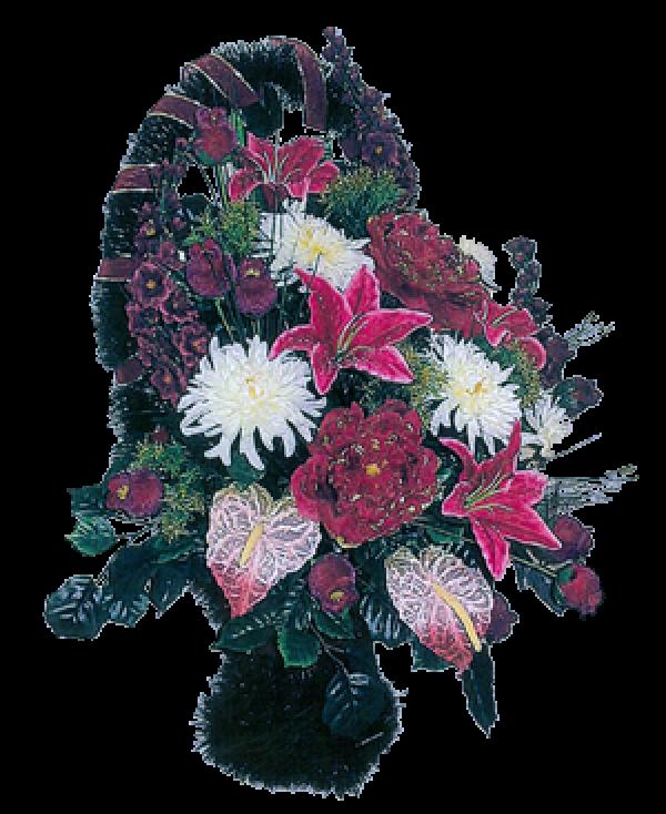 Корзина из искусственных цветов Элитная-1