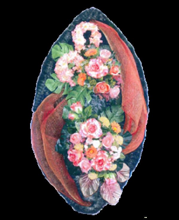 Венок из искусственных цветов Элит 110-2