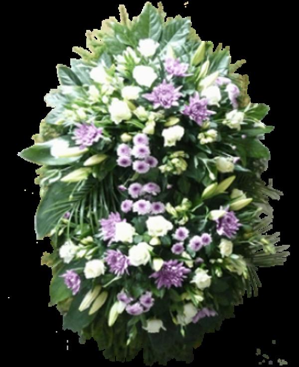 """Венок из живых цветов """"Комбинированный-4"""""""