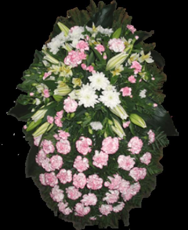 """Венок из живых цветов """"Комбинированный-1"""""""