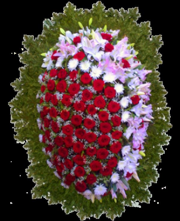 """Венок из живых цветов """"Комбинированный-5"""""""