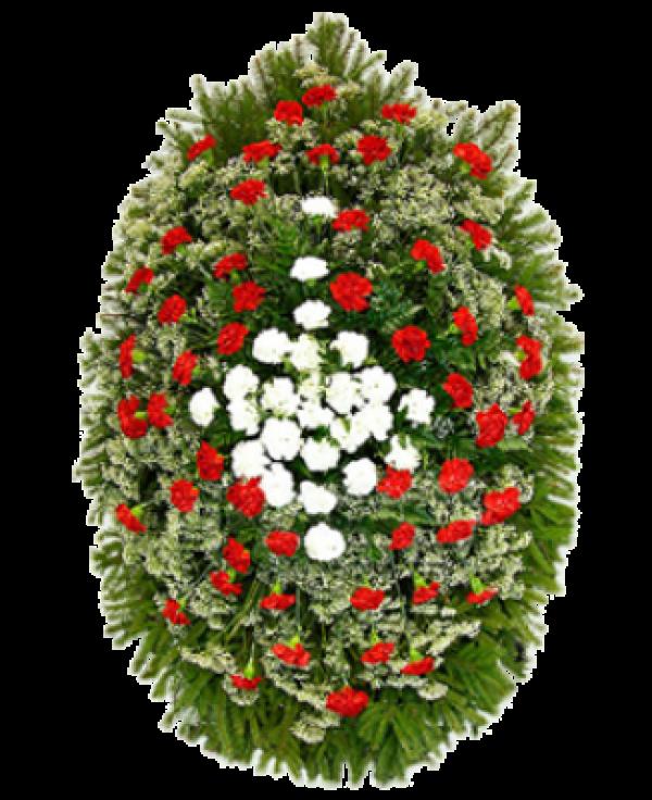 """Венок из живых цветов """"Гвоздика-4"""""""