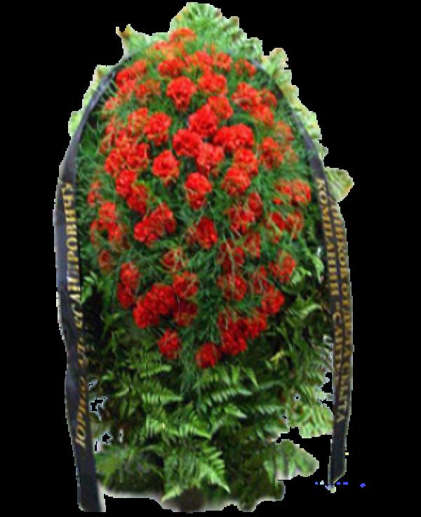 """Венок из живых цветов """"Гвоздика-3"""""""
