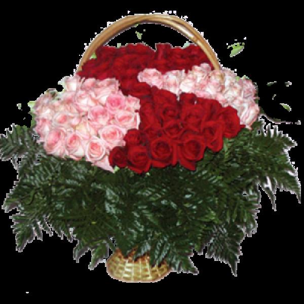 """Корзина из живых цветов """"Розы-1"""""""