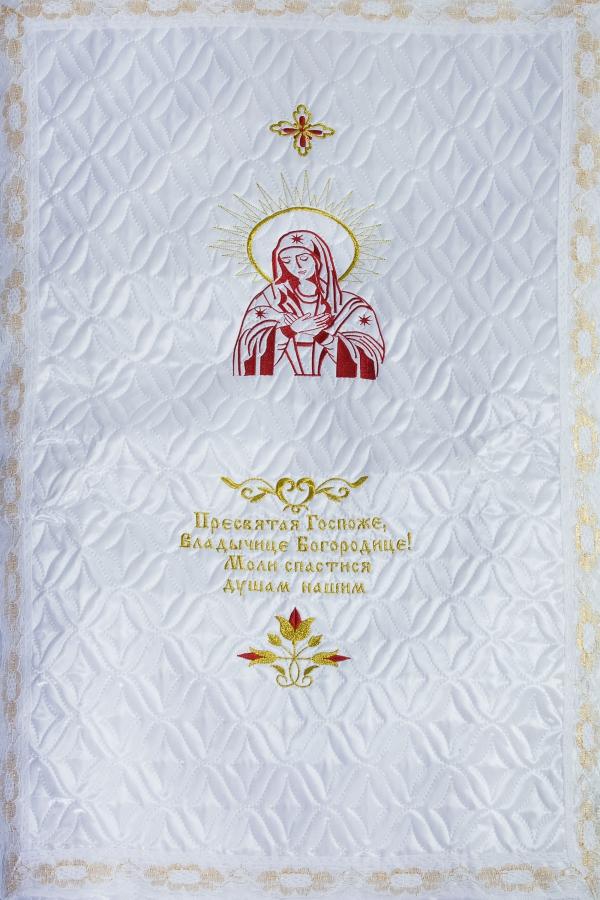 Покрывало атлас стежка «Богородица»