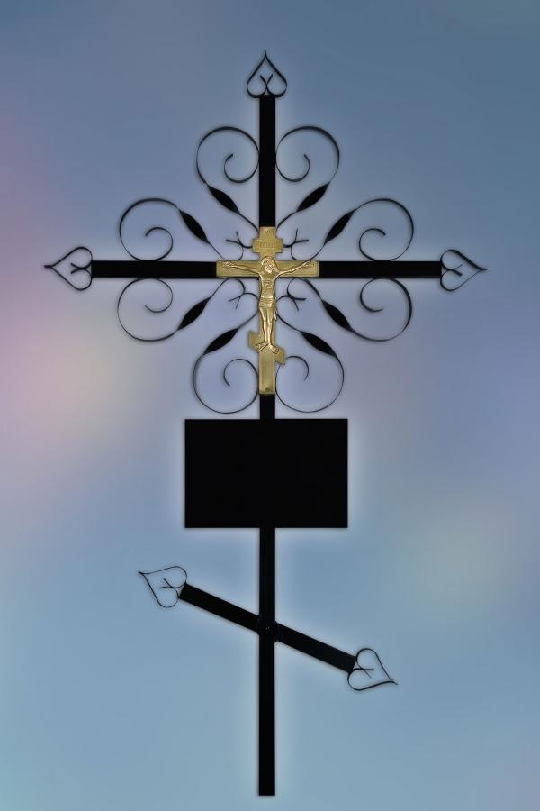 Крест на могилу металл Завитушка
