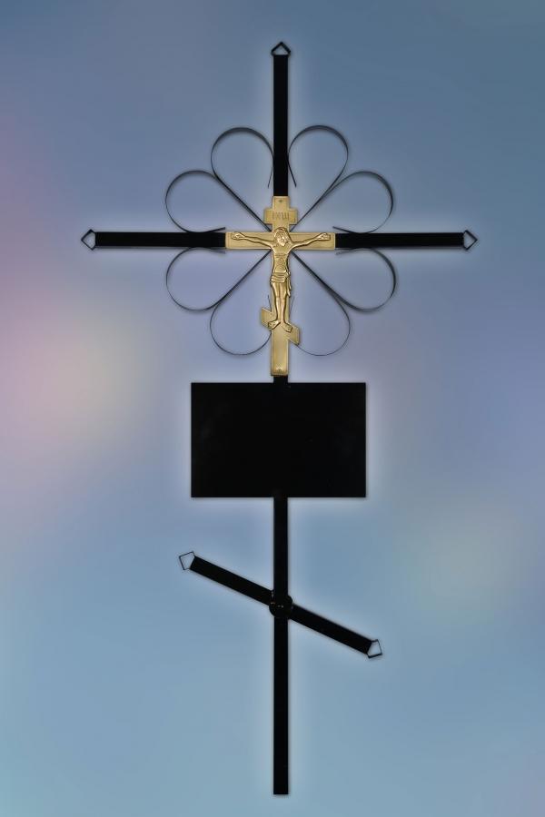 Крест на могилу металл стандарт