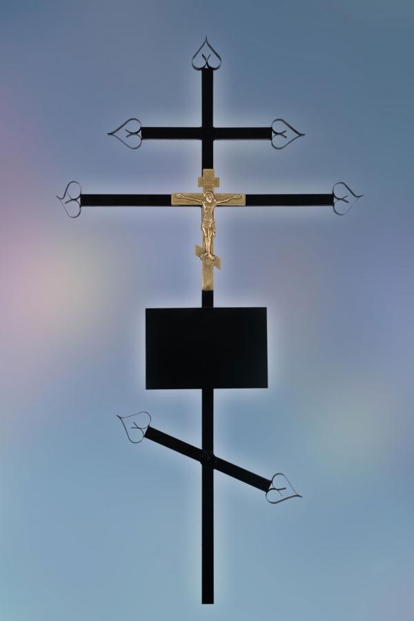 Крест на могилу металл Православный