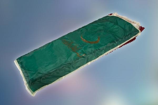 Покрывало шелк, с мусульманской символикой