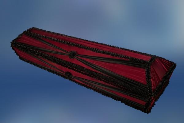 Гроб обитый тканью «Бант»