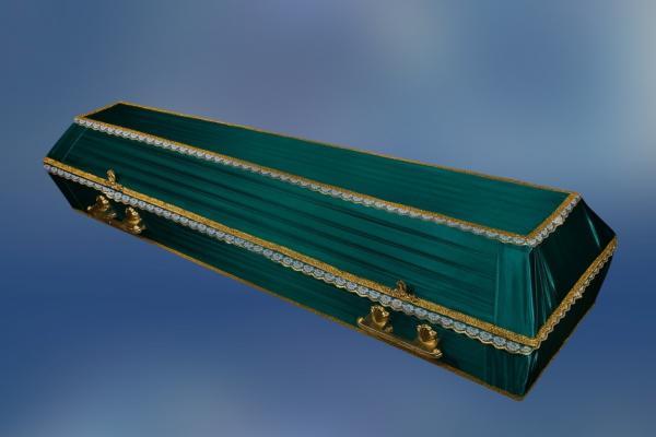 Гроб обитый тканью «Траур»