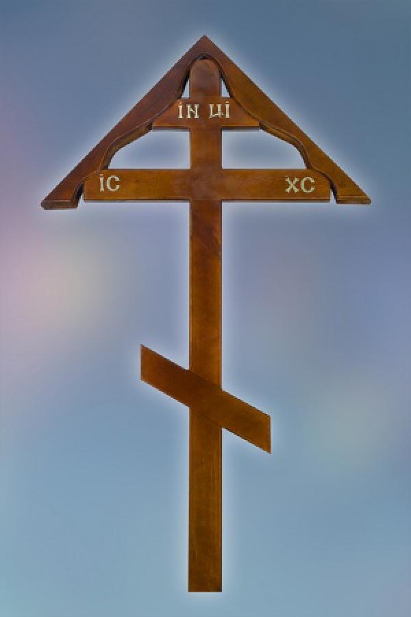 Крест дуб простой домик