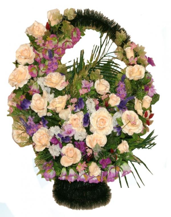 Корзина из искусственных цветов Ладья Элитная-1