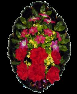 Венок из искусственных цветов Стандарт 90-1