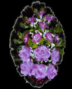 Венок из искусственных цветов Стандарт 90-2