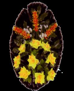 Венок из искусственных цветов Стандарт 90-4