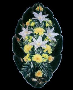 Венок из искусственных цветов Стандарт 110-6