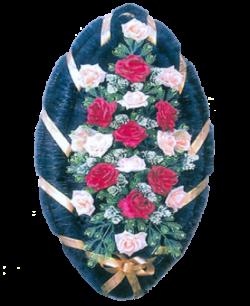 Венок из искусственных цветов Стандарт 110-9