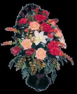 Корзина из искусственных цветов Элитная-2