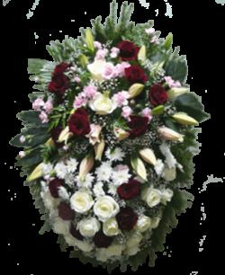 """Венок из живых цветов """"Комбинированный-2"""""""