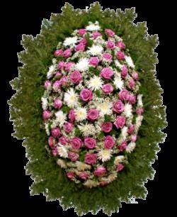 """Венок из живых цветов """"Комбинированный-7"""""""