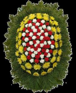 """Венок из живых цветов """"Комбинированный-12"""""""