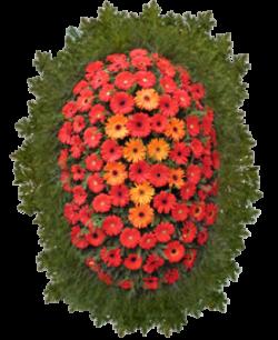 """Венок из живых цветов """"Комбинированный-9"""""""