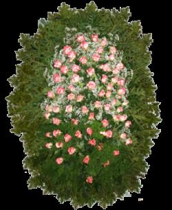 """Венок из живых цветов """"Розы-1"""""""