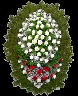 """Венок из живых цветов """"Розы-3"""""""
