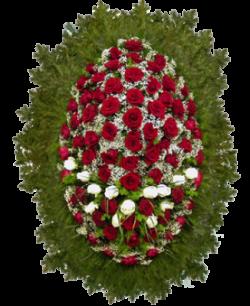 """Венок из живых цветов """"Розы-4"""""""