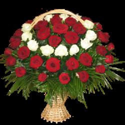 """Корзина из живых цветов """"Розы-4"""""""