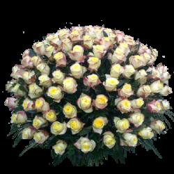 """Корзина из живых цветов """"Розы-2"""""""