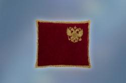 Орденская подушка бархат с вышивкой герб