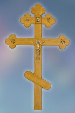 Крест лакированный дуб элитный