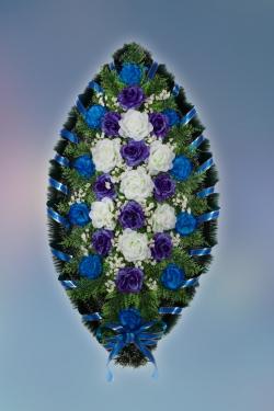 Венок из искусственных цветов Стандарт-10