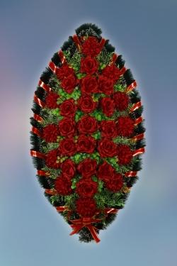Венок из искусственных цветов Стандарт-12