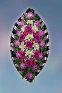 Венок из искусственных цветов Стандарт-13