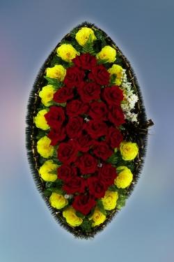 Венок из искусственных цветов Стандарт-16