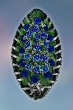 Венок из искусственных цветов Стандарт-6