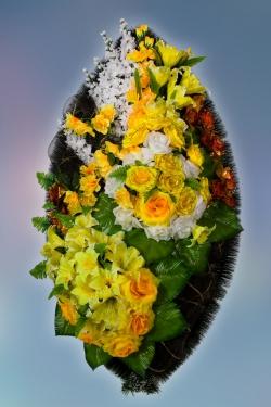 Венок из искусственных цветов Элит-1