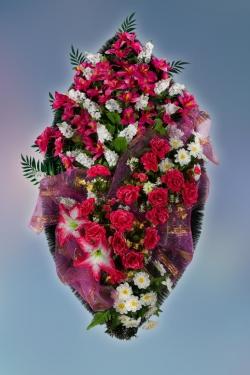 Венок из искусственных цветов Элит-11