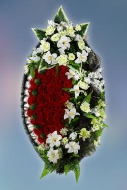 Венок из искусственных цветов Элит-12