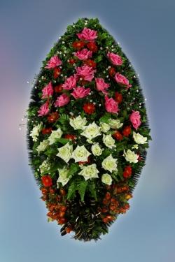 Венок из искусственных цветов Элит-22