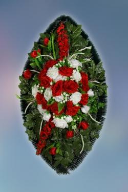 Венок из искусственных цветов Элит-24