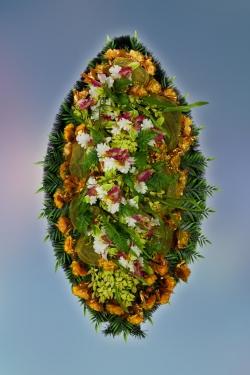 Венок из искусственных цветов Элит-27
