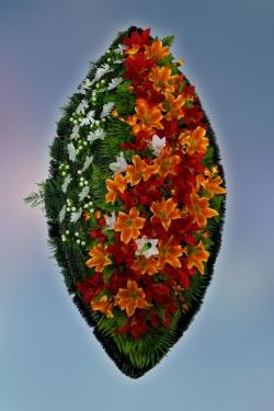 Венок из искусственных цветов Элит-28