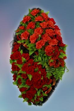 Венок из искусственных цветов Элит-3