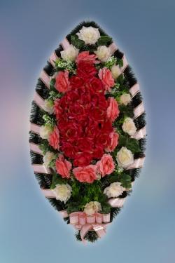 Венок из искусственных цветов Заказ-13