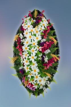 Венок из искусственных цветов Заказ-2